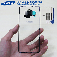 Original Samsung Back Battery Door Rear Glass Case For Samsung Galaxy S8 G9500 S8 Plus S8+ SM-G SM-G955 Phone Transparent  Door чехол для samsung galaxy s8 sm g955 deppa gel case plus золотистый