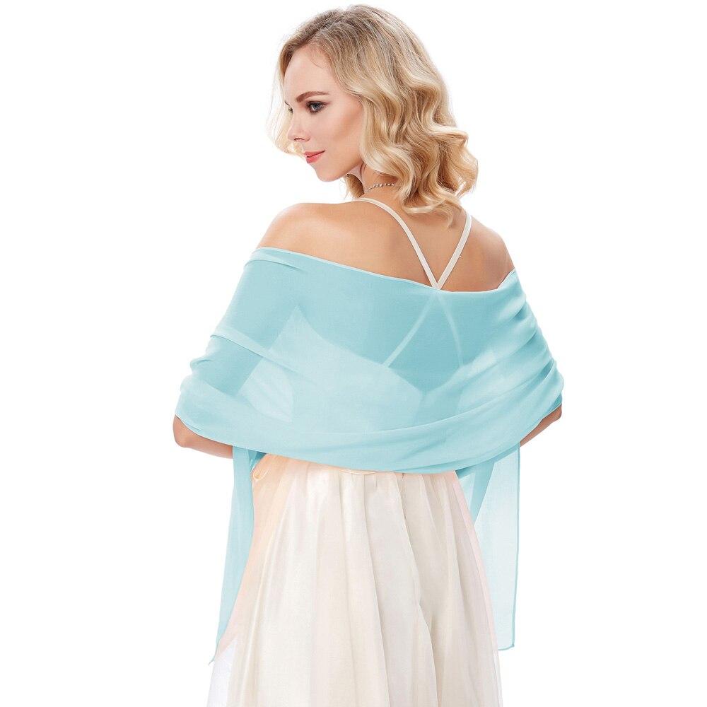 Women Ladies Chiffon Bridal Evening Dress Shawl   Scarf     Wrap   Neckerchief~Elegant