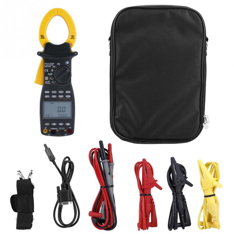 New Clamp Meter MS2205 Three phase Digital Power Clamp Meter Multimeter Multi function Harmonic Power Tester