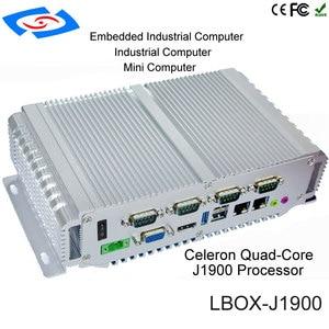 Image 4 - fanless mini pc 4G ram 64G SSD intel celeron processor J1900 industrial computer support wifi dual Lan rs232 12v barebone system