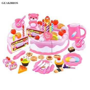38-80 Uds DIY juego De frutas cortar pastel De cumpleaños Cocina alimentos...