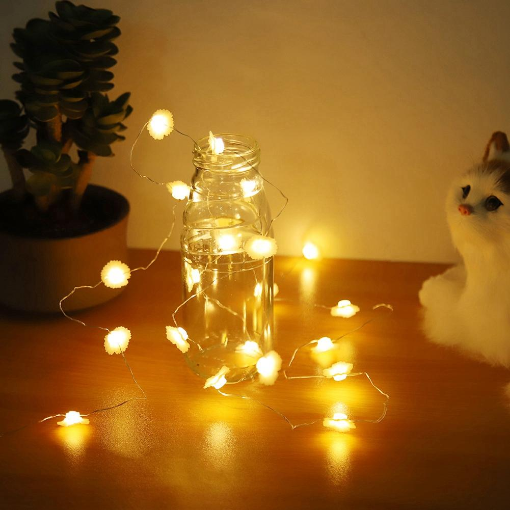 2m 20LED Flower Style LED Light String Warm White led string for Home Holiday Christmas Decoration light Lamp