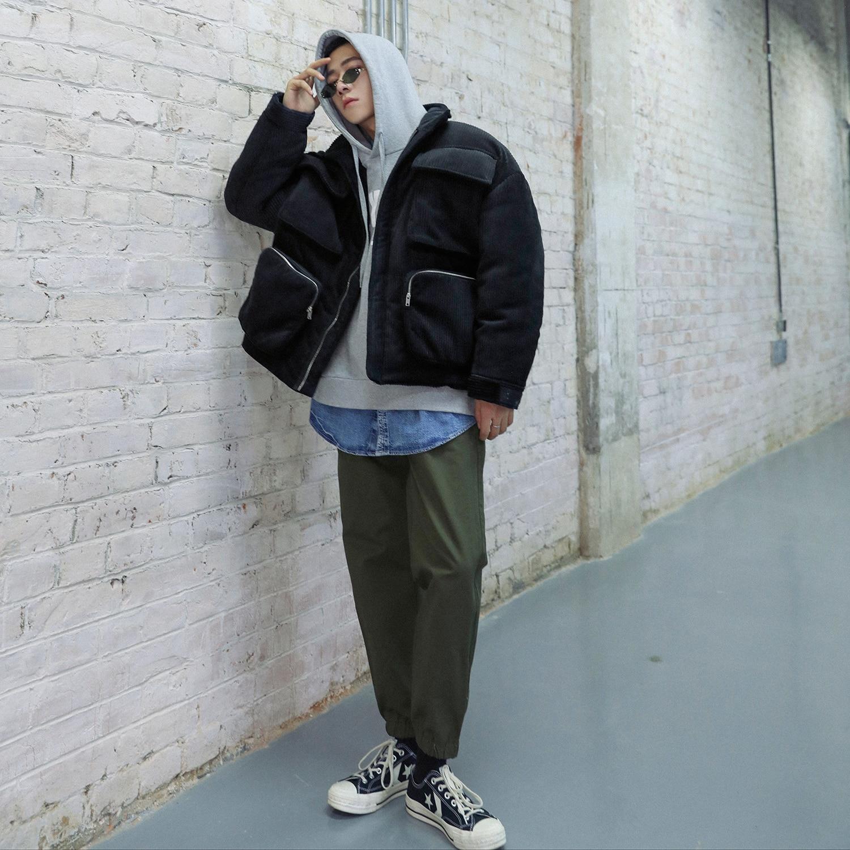 Black Épaissir Coton lilac De 2018 Poche Chaud En M Hiver Rembourré Veste brown Streetwear Manteaux Trench Parkas Restaurer Velours Vêtements xl Hommes Neige YYq8gwR