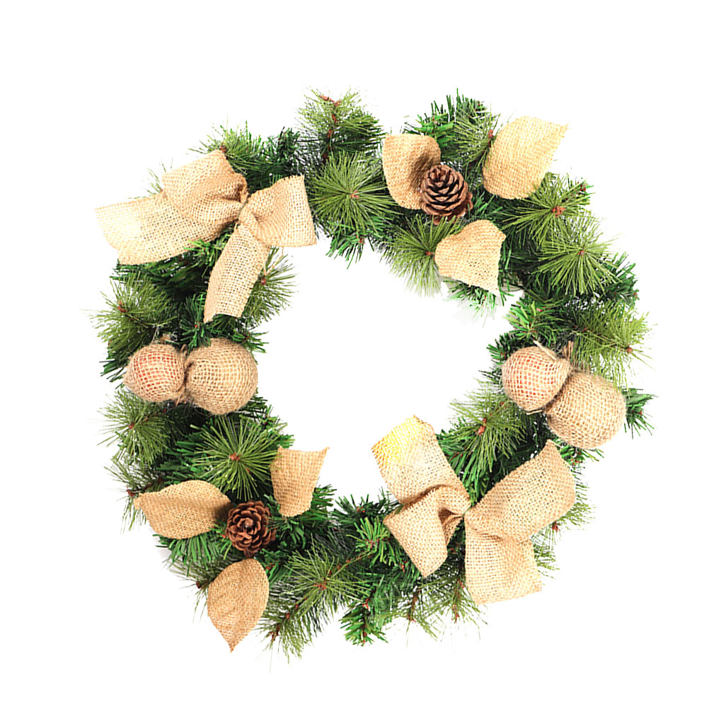 1Pc Christmas Wreaths Color Creative Linen Garland Headpiece Wreath Decoration for Birthday Party Theme Party Costume Party