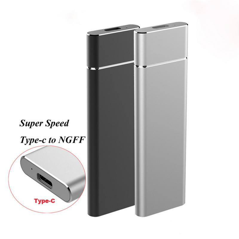 M.2 NGFF to USB3.1 Mobile Hard Disk Box M2 SSD Type C Solid State Disk Box For NVME Dropship 11.11