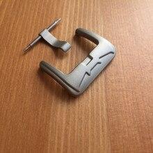 20 مللي متر التيتانيوم ماتي باتمان شعار إبزيم ساعة/المشبك ل حزام (استيك) ساعة أجزاء أدوات
