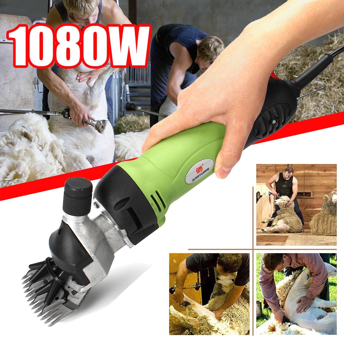 1080W Sheep Shearing Machines Electric Scissor Sheep Clippers Sheep Goats Alpaca Shears Animal Hair Shearing Cutter Wool Machine