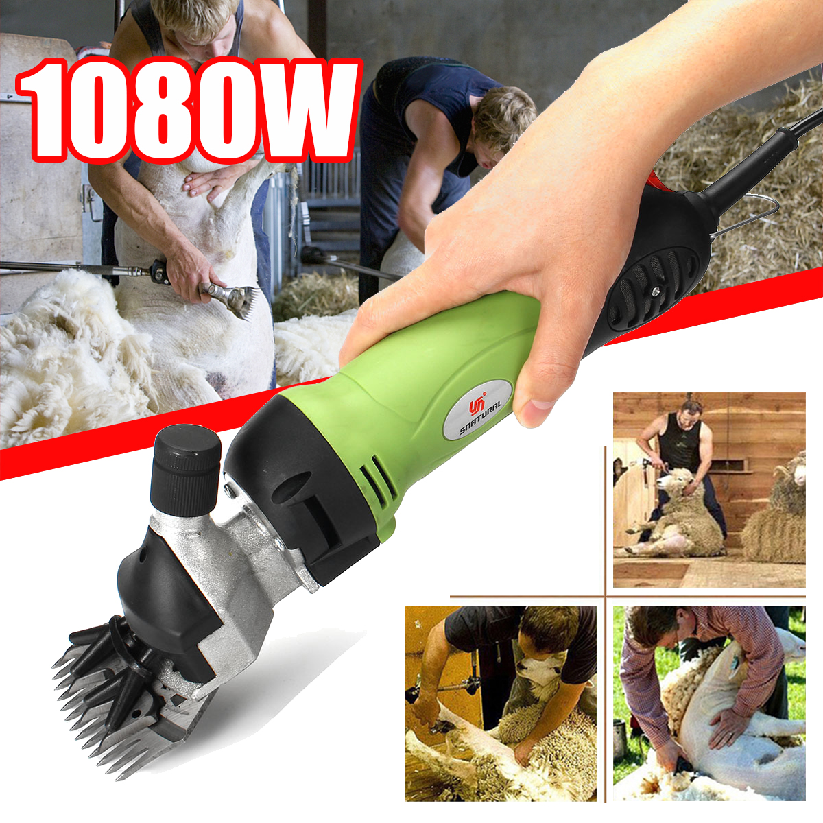 220 V 1080 W Elétrica Shearing Suprimentos Clipper Cisalhamento Caprinos Ovinos Tesouras Animal Cortador de Máquina de Corte De Cabelo Tesoura De Lã de Alpaca