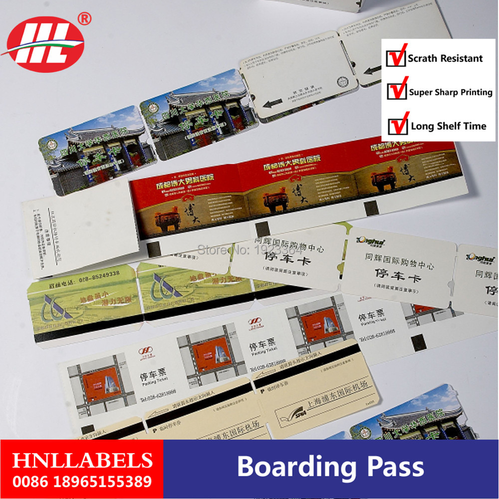 Factory Selling Airline Flight Ticket Printing /Airline Boarding Pass Printing