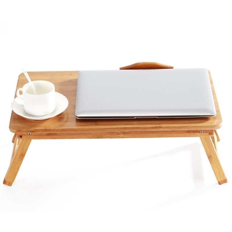 Plateau de lit pliable en bambou de Table de bureau d'ordinateur portable réglable de 50x30x20 cm avec le tiroir pour l'usage à la maison