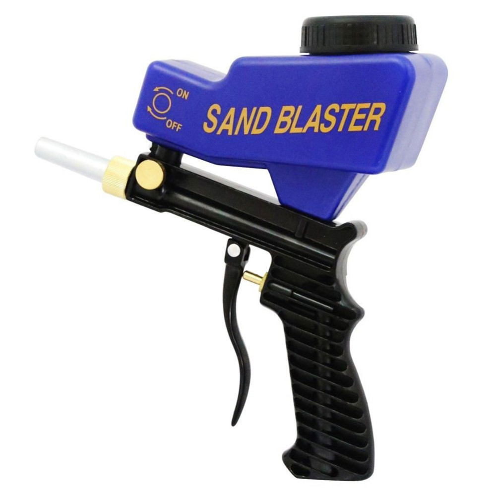 Portable Adjustable Gravity Sandblasting Gun Pneumatic Sandblasting Set Rustproof Blasting Device Small Sand Blasting Machine