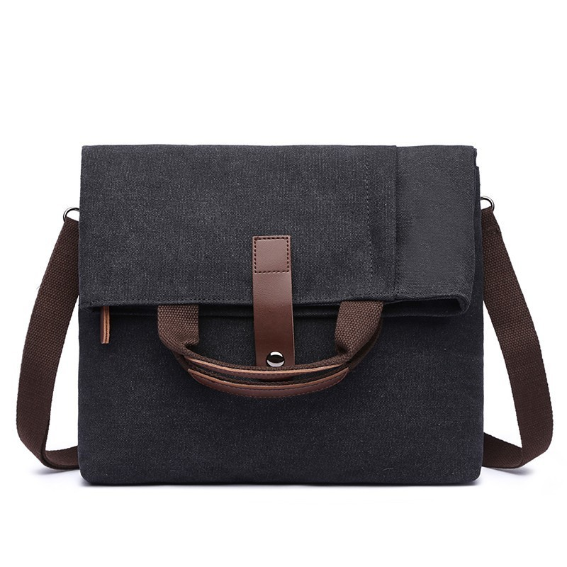 Bag Leather Vintage Men Messenger Shoulder Satchel School Briefcase Cross body