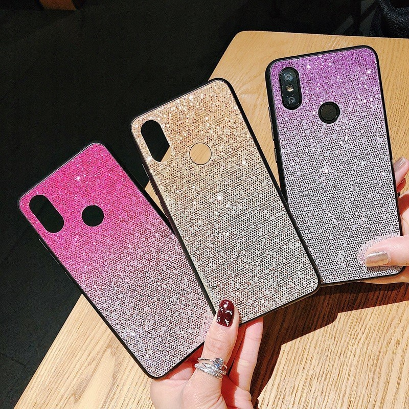 Fastest shipping huawei honor 7x glitter case in Hairs Style