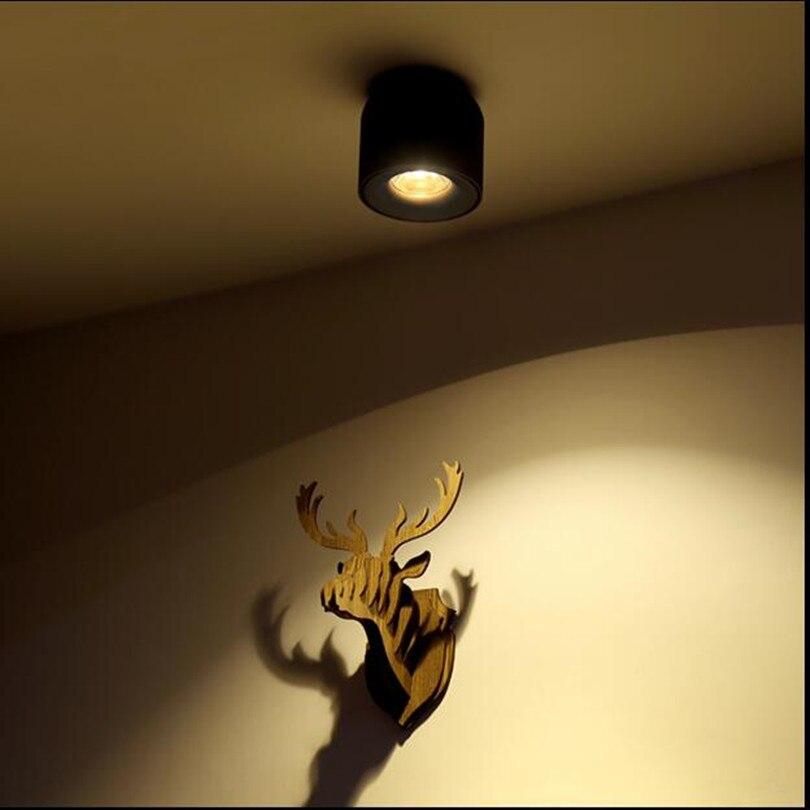 Fanlive 6 pièces Surface Monté 7W 10W COB LED Downlights LED Plafonnier Lumière Vers Le Bas pour La Maison Lumière Commerciale AC85V-265V