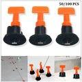 50/100 шт плоский керамический пол стены строительные инструменты многоразовые разделительные плитки выравнивания системы комплект