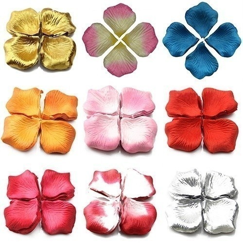 500pcs Silk Rose Flower Petals Leaves Wedding Table Decorations Rose Petals