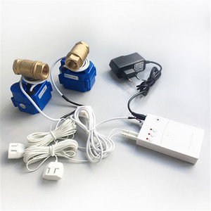 "Image 1 - HIDAKA WLD 807 (DN15*2pcs) Water Leaking Detector Alarm for Smart Home  Sensor Cable with 2pcs 1/2"" BSP NPT Valve 6m  Eu/US Plug"