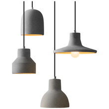 цена на American Pendant Light Bedroom Lamp Cafe Bar Restaurant Pendant Lamp Kitchen Luminaire Concrete Cement Industrial Decor