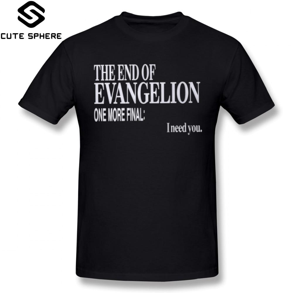 Evangelion T Shirt The End Of Evangelion T-Shirt Short-Sleeve Fun Tee Shirt XXX Summer Male Printed Cotton Tshirt