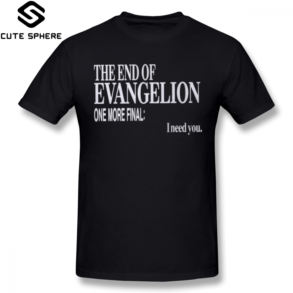 Evangelion   T     Shirt   The End Of Evangelion   T  -  Shirt   Short-Sleeve Fun Tee   Shirt   XXX Summer Male Printed Cotton Tshirt