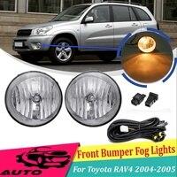 12V H16 Car Fog Light For Toyota RAV4 2004 2005 Lamp With Switch Bulb Driving DRL Foglight Front Bumper 81221 42061