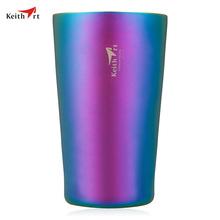 Keith rt Ti3531 320ml Colorful Rainbow Titanium Water Vacuum Cup Durable Drinkware Protable Thermos Mug Coffee Cup Vacuum Flasks