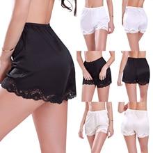 Летние женские антистатические трусики-американки, свободные Сатиновые шаровары, Короткие штаны для сна, однотонная свободная удобная женская одежда