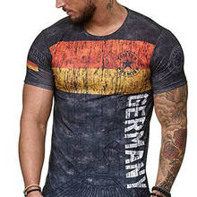 3157334316da 2019 new summer German letter men s T-shirt 3D printing round neck casual t  shirt