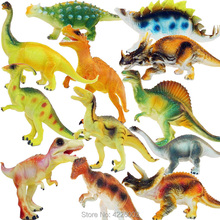 12pcs/set Dinosaurs Tyrannosaurus Rex Jurassic Play Model Animal PVC Action Figures Collection Kids Toys for Boys Children Gift цена
