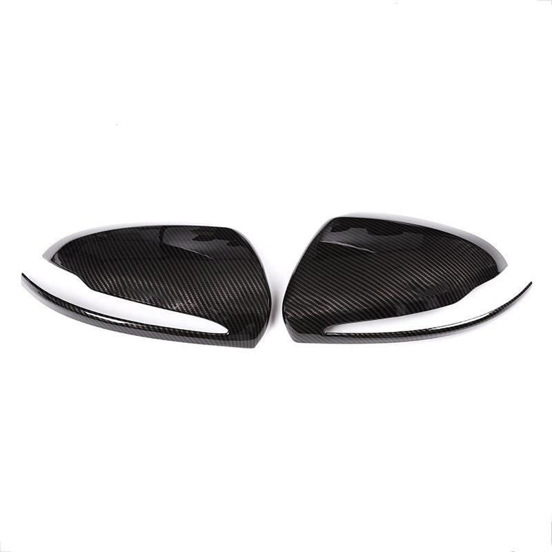 Carbon Fiber For Mercedes Benz C W205 E W213 GLC-Class X253 S Class W222 ABS Plastic Car Rearview Mirror Cap Cover Trim For LH