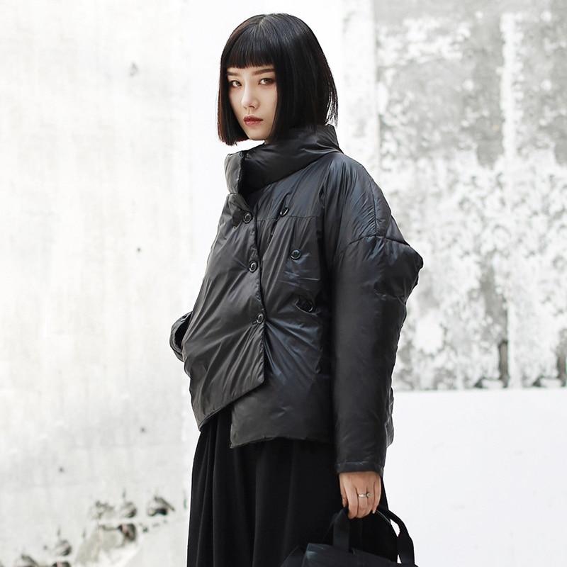 Dos Vers 2019 Marée Point Longues Le eam Manches Bas Mode Noir Nouveau Black Chaud Col Jk137 À Printemps Femmes De Manteau Montant Veste Irrégulière z11wqA6d