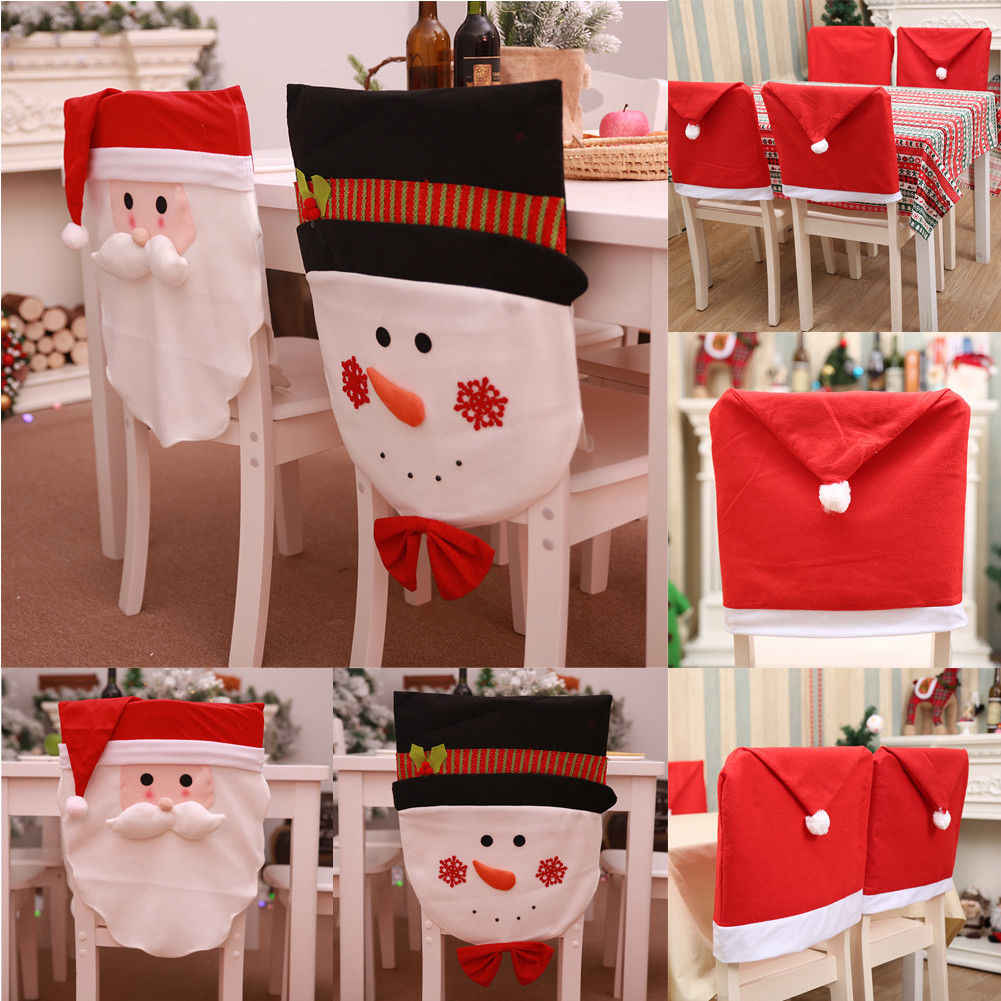Christmas Chair Back Covers.1pcs Christmas Chair Back Cover Decoracion Navidad Hat Christmas Decorations For Home Dinner Table New Year Xmas Chair Cover