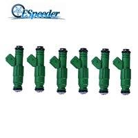 ESPEEDER 6PCS/LOT High flow 0 280 155 968 fuel injector 440cc For Audi A4 S4 TT 1.8L 1.8T Fuel Injector 0280155968
