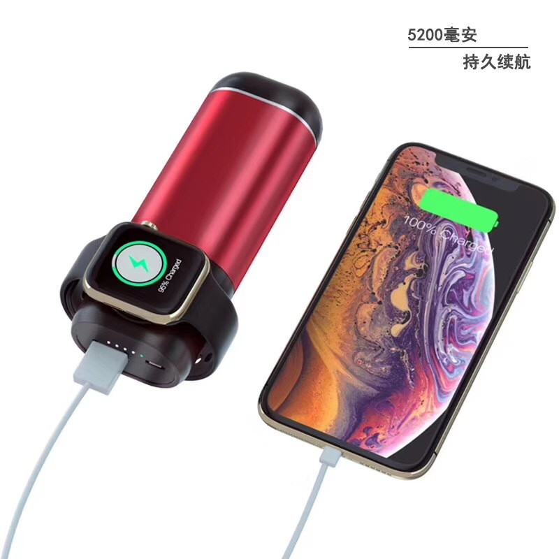 Lantro JS Three in One Wireless Mobile Power Bank Case for Headphones and Charger for Watch Phone in Mobile Phone Chargers from Cellphones Telecommunications