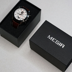 Image 5 - Megir クロノグラフスポーツウォッチ男性の高級クリエイティブ腕時計時計男性レロジオ masculino 2065 陸軍軍用腕時計
