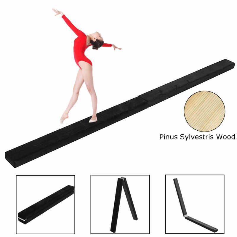 2.1M Folding Gymnastics Foam 7FT Balance Beam Training Sport Practice For Kids