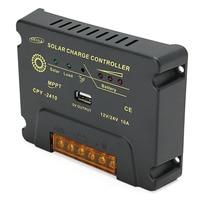 LEORY CPY 2410 12V/24V 10A USB MPPT Solar Panel Battery Charge Controller 132x100x25mm