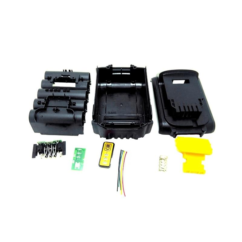 For Dewalt 18V 20V Battery Replacement Plastic Case 3 0Ah 4 0Ah DCB201 DCB203 DCB204 DCB200
