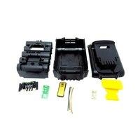 Para dewalt 18 v 20 v bateria substituição caso plástico 3.0ah 4.0ah dcb201  dcb203  dcb204  dcb200 li ion bateria capa peças|null| |  -