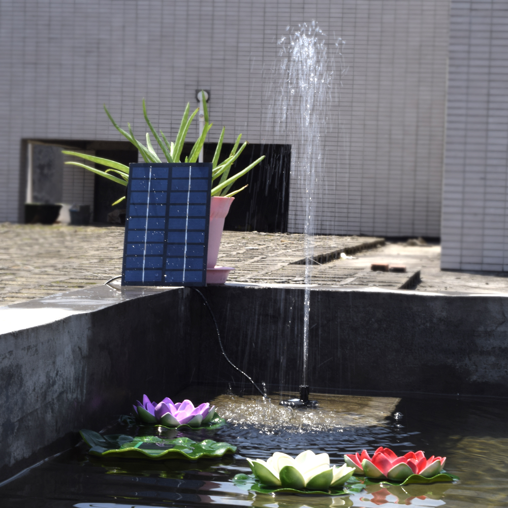 Responsible 60cm Professional Solar Power Fountain Irrigation System Pool Water Pump Garden Decoration Plants Watering Outdoor 200l/h Superior Performance