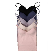 Women Camisole With Built In Shelf Bra Adjustable Spaghetti Strap Vest White Soft Tanks Casual Top Nude Pink White Lady Camis