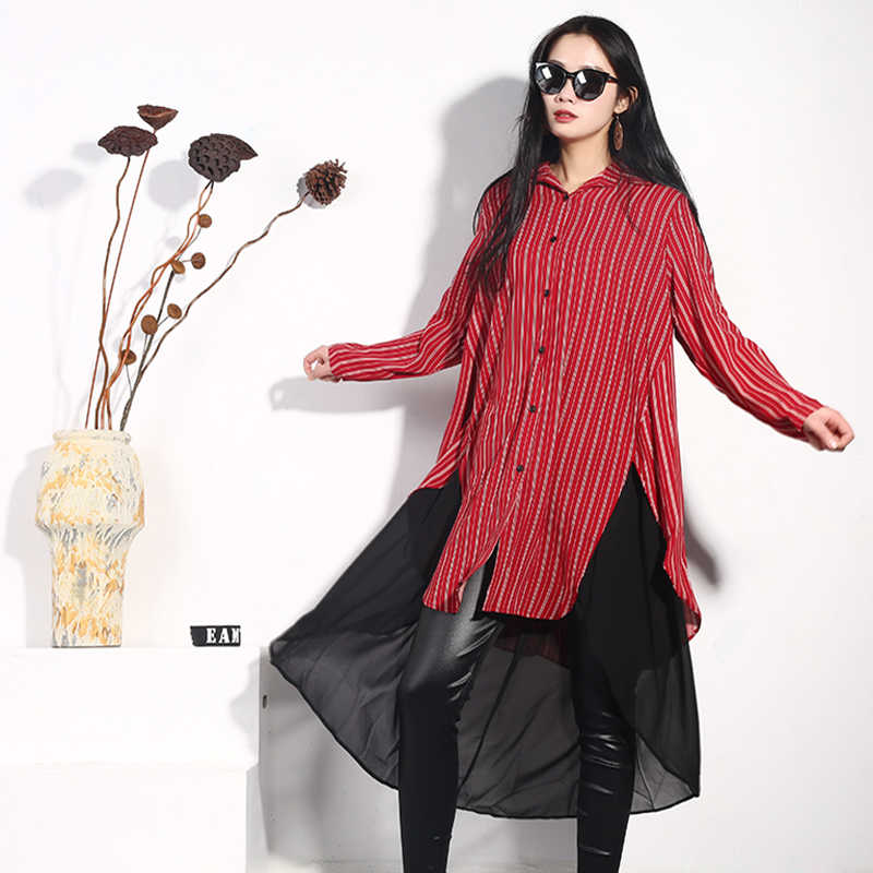 LANMREM/Новинка 2019 года; Модная одежда на весну и лето; платье из шифона в полоску с рукавами три четверти; платье из двух предметов; WD1300