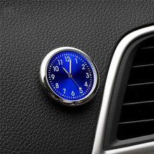 Mini Auto Quartz Horloge Desktop Auto Decorating Stick-On Klok Auto Air Vent Quartz Klok Horloge Auto Kantoor Decoreren ornament(China)