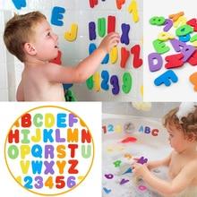 BalleenShiny 36 قطعة/الوحدة الأطفال الأبجدية الرقمية ملصق المياه الاستحمام رغوة الاستحمام تعويم اللعب تطوير الطفل التعليم المبكر