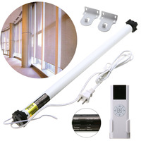 Electric Curtain Set AC 100 240V Electric Roller Shade Motor Blind Tubular Motor Kit Remote Control