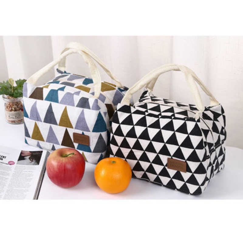 Brand New Style Women Portable Lunch Bag Functional Pattern Insulated Thermal Cooler Box Carry Tote Travel Bag Picnic Hot