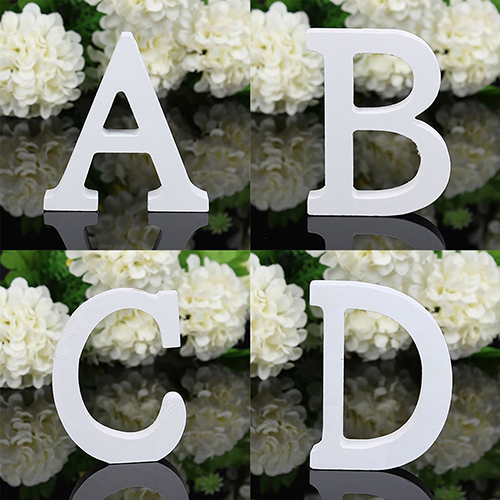 1Pcs Home Decoration Large Wooden Letter Alphabet Wall Hanging Wedding Party Home Shop Wooden Letter 2