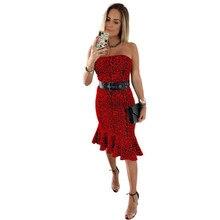 2019 Hot Women Leopard Summer Dress Boho Sexy Bodycon Sleeveless Evening Party Club Dress Robe Femme цены