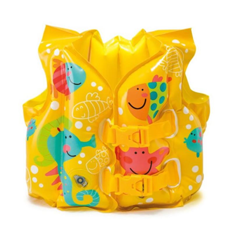 Summer Kids Safety Swimming Buoyancy Vest Baby Beach Water Play Float Aid Life Jacket Children Outdoor Safety Inflatable Clothes