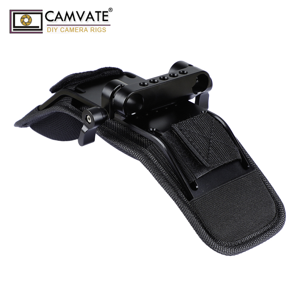 CAMVATE Shoulder Pad With Dual Rod Clamp For 15mm Railblock Support System  C1974-in Photo Studio Accessories from Consumer Electronics    1